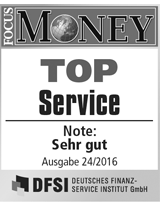 FOCUS Money Goldsparplan Test - Top Service 2016