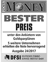 FOCUS Money Goldsparplan Test - Bester Preis 2017