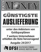 FOCUS Money Goldsparplan Test - Günstigste Auslieferung 2017